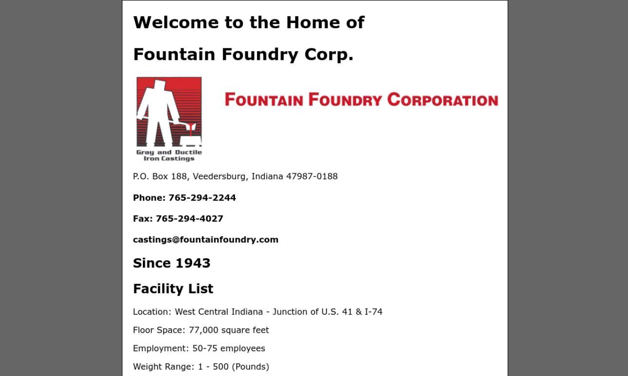Fountain Foundry Corp.