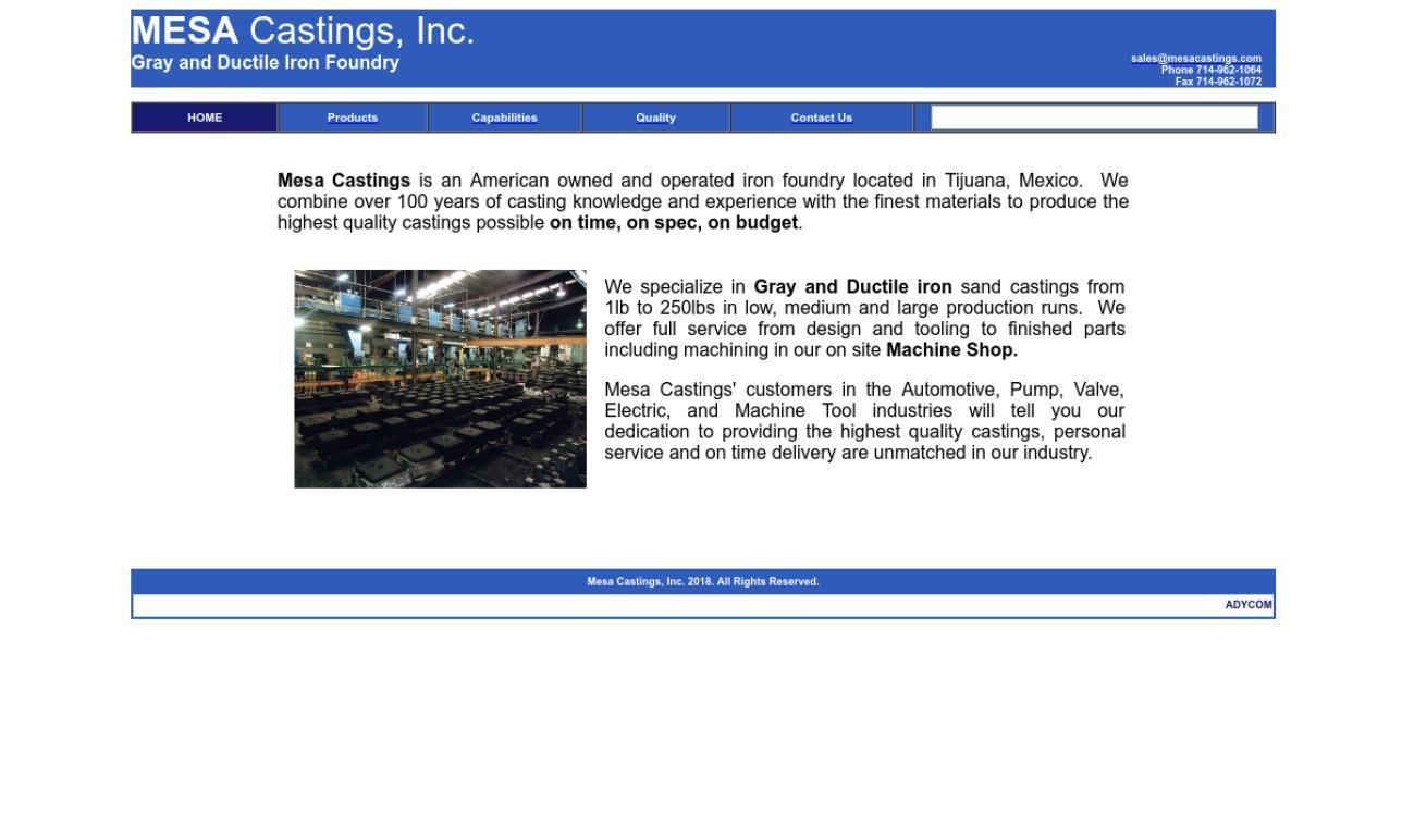 Mesa Castings, Inc.