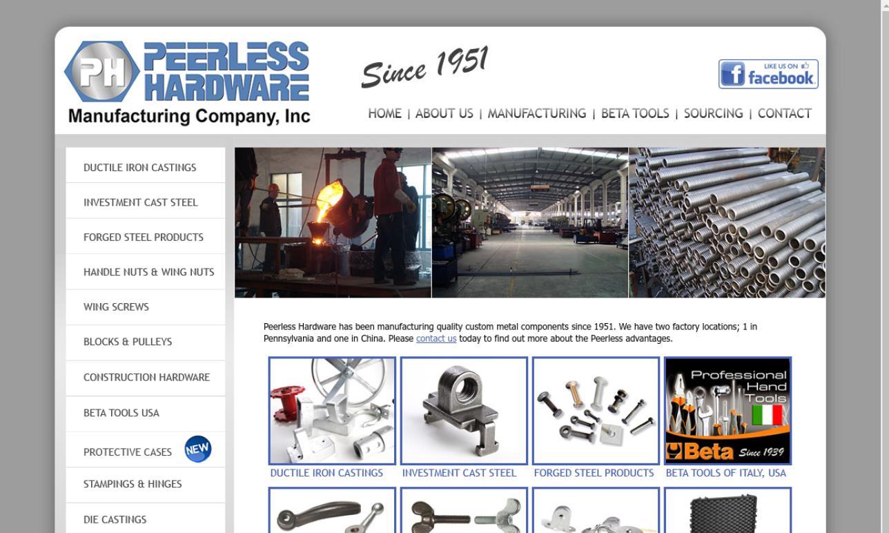Peerless Hardware Manufacturing Company, Inc.