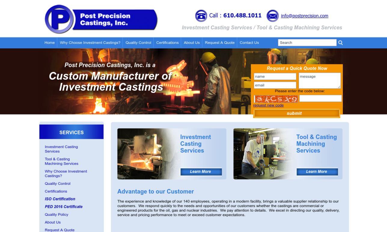 Post Precision Castings, Inc.